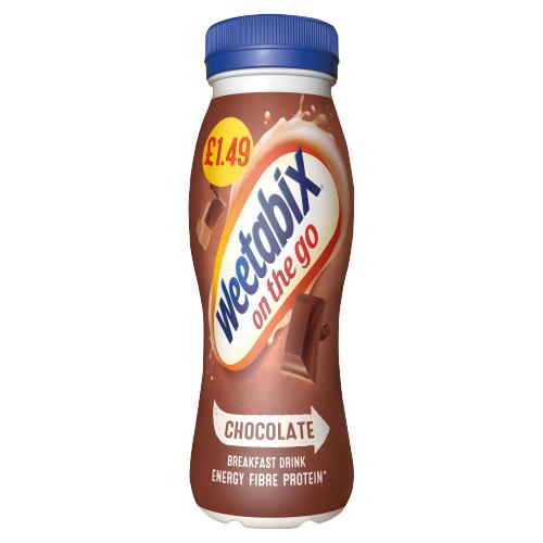 Weetabix On The Go Chocolate Breakfast Drink 250ml - Case of 8 Multisave