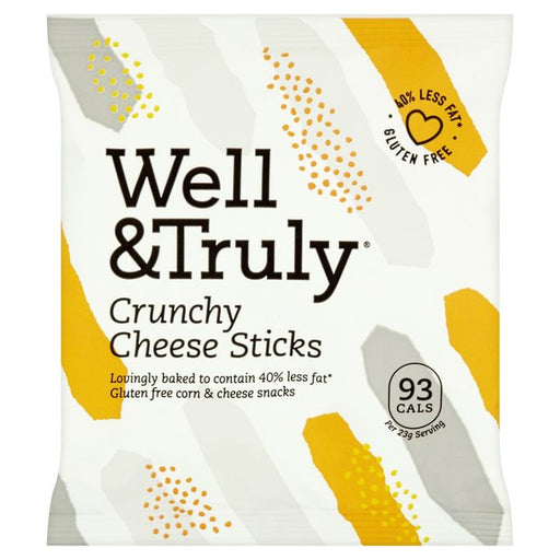 Well & Truly Crunchy Cheese Sticks (Crisps) 23g x 10 Multisave