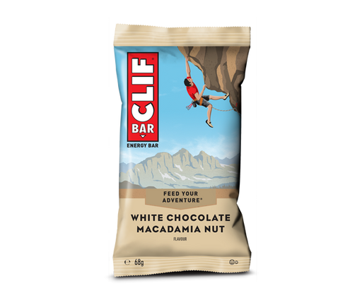 Clif White Chocolate Macadamia Nut flavour Energy bar 68g