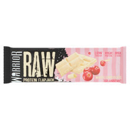 Warrior Raw White Chocolate Cranberry flavour Protein Flapjack 75g - Case of 12 Multisave