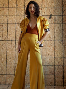 """Pass the Mustard"" Exaggerated wide leg track pant"