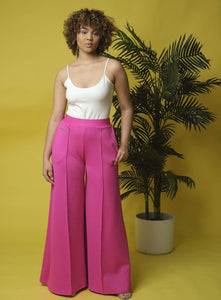 Juicy Jackfruit  Exaggerated wide leg track pant
