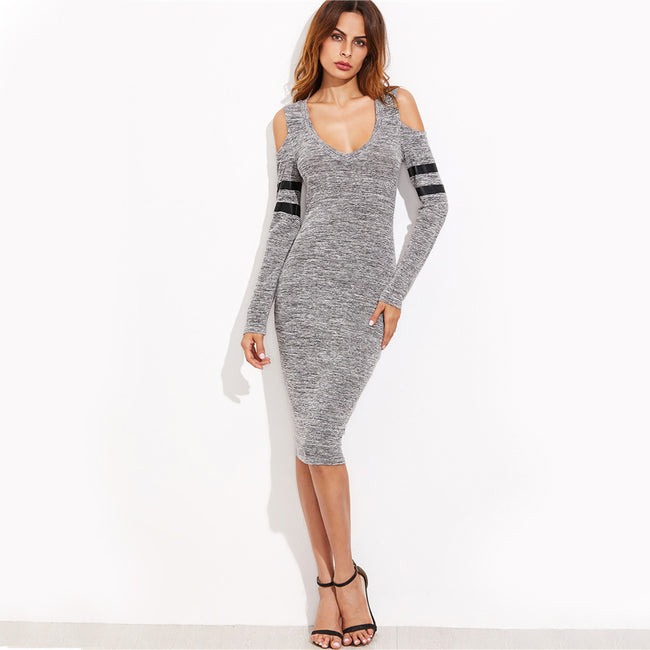 Marled Knit Bodycon Dress