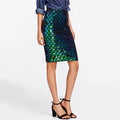 Iridescent Diamond Sequin Skirt