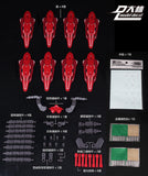 DL-model > C. Red shields: Astraea Type-F / Avalanche set (For Bandai MB use)