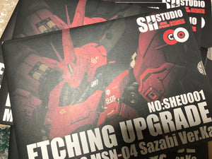 SH Studio - MG Sazabi photo etchs