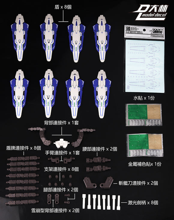 DL > A. White shields: Astraea / Avalanche set (For Bandai MB use)