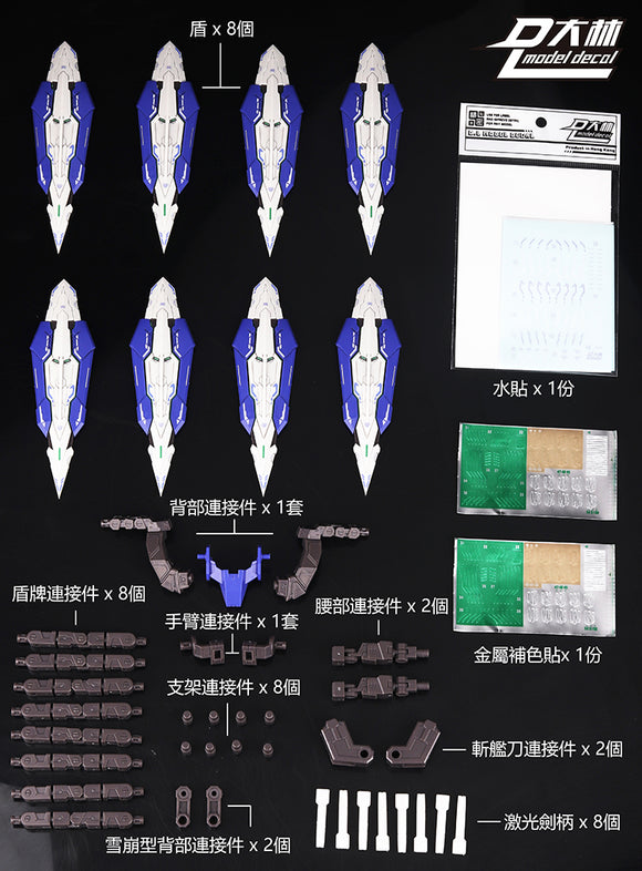 DL > F. White shields: Bandai MetalBuild Exia use