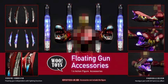 WO-005 WOO Toys 1/6 MK50 Floating Gun Accessories Pack w/ UV Light Hand Guns
