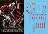 XY > HiRM Gundam Astray Red Frame decal
