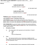 Animal/Horse Lease Agreement