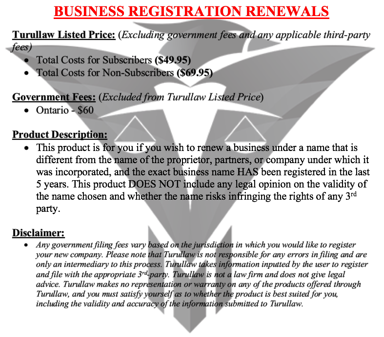 Business Registration Renewals - Business Style
