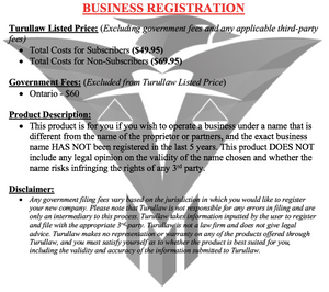Business Registration - Sole Propietorship