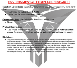 Environmental Compliance Search