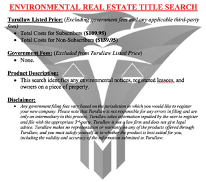 Environmental Real Estate Title Search