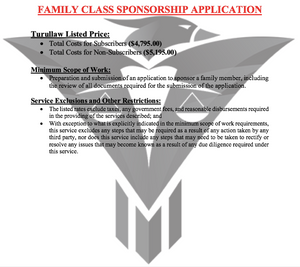 Family Class Sponsorship Application - (Flat-Rate)