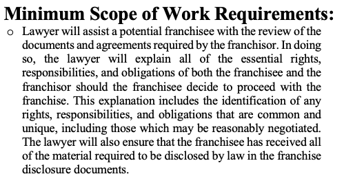 Review of Franchise Disclosure Information - (Non-Subscribers)