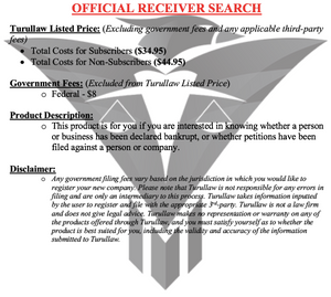Official Receiver Search and Insolvency Search