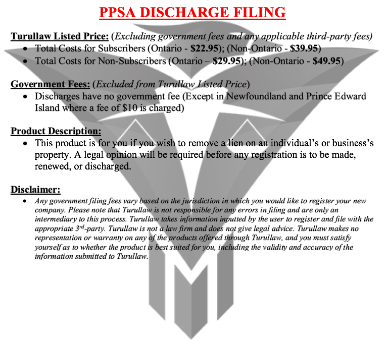 PPSA Discharge Filing