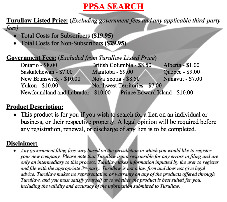 PPSA Certified Search