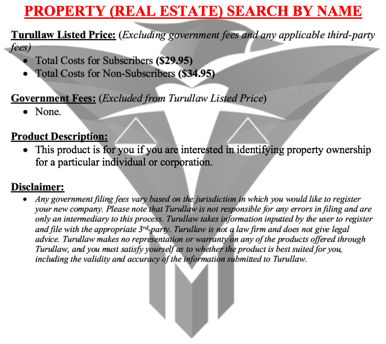 Property Search by Name
