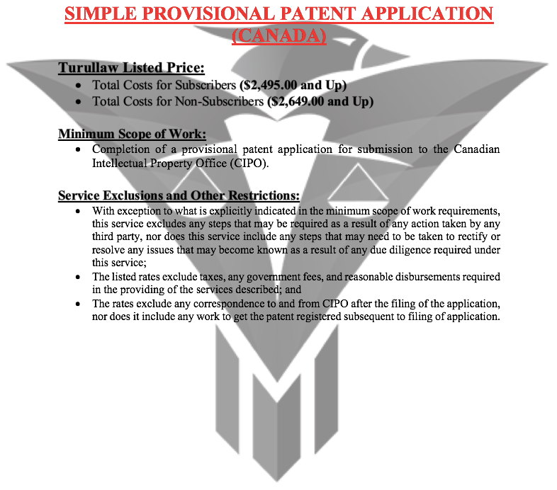 Simple Provisional Patent Application - (Flat-Rate)