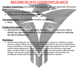 Record of Site Condition Search