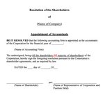 Appointment of Accountants or Auditor