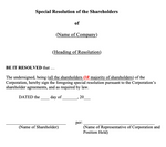 General Special Resolution of Shareholders