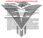 Summary Criminal Offence (One Day Trial) - (Flat-Rate)