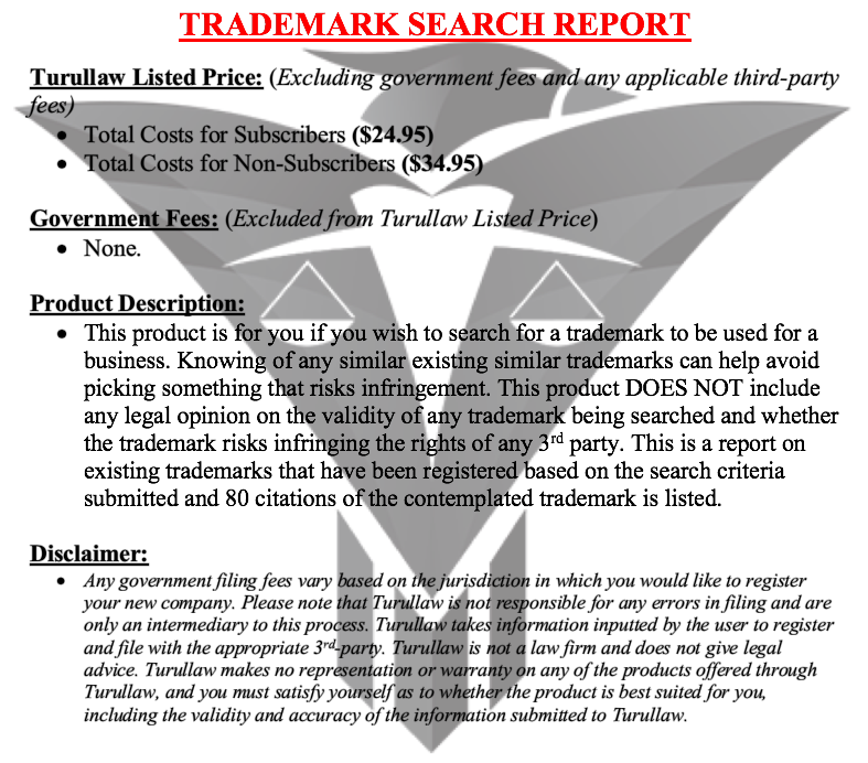 Trademark Search Report (80 citations)