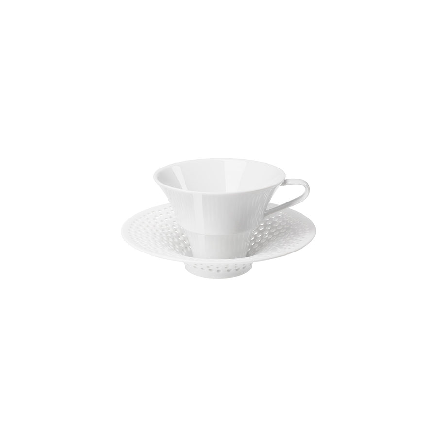 HERING BERLIN CIELO COFFEE/TEA CUP WITH SAUCER, CONICAL