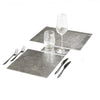 POSH TRADING COMPANY PLACEMAT SILVER LEAF IN SILVER