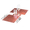 POSH TRADING COMPANY DOUBLE COASTER SILVER LEAF IN ROSE GOLD