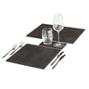 POSH TRADING COMPANY PLACEMAT FAUX BOA CHARCOAL