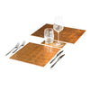 POSH TRADING COMPANY PLACEMAT SILVER LEAF IN GOLD