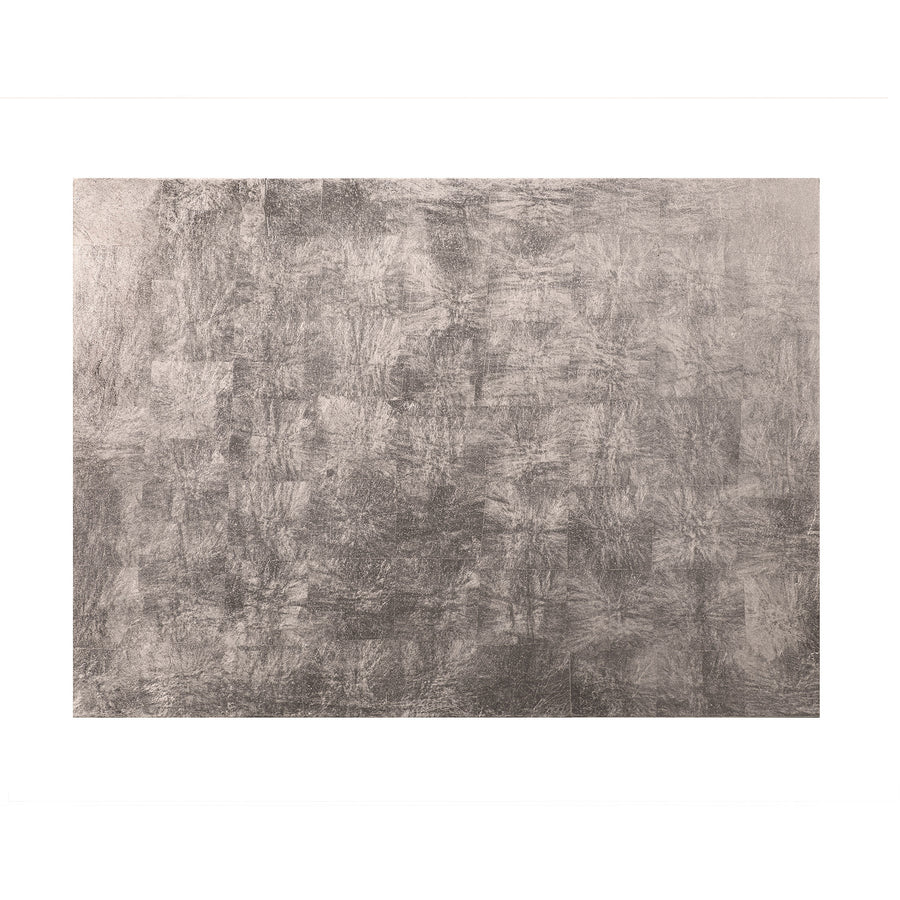 POSH TRADING COMPANY SERVING MAT / GRAND PLACEMAT SILVER LEAF IN SILVER