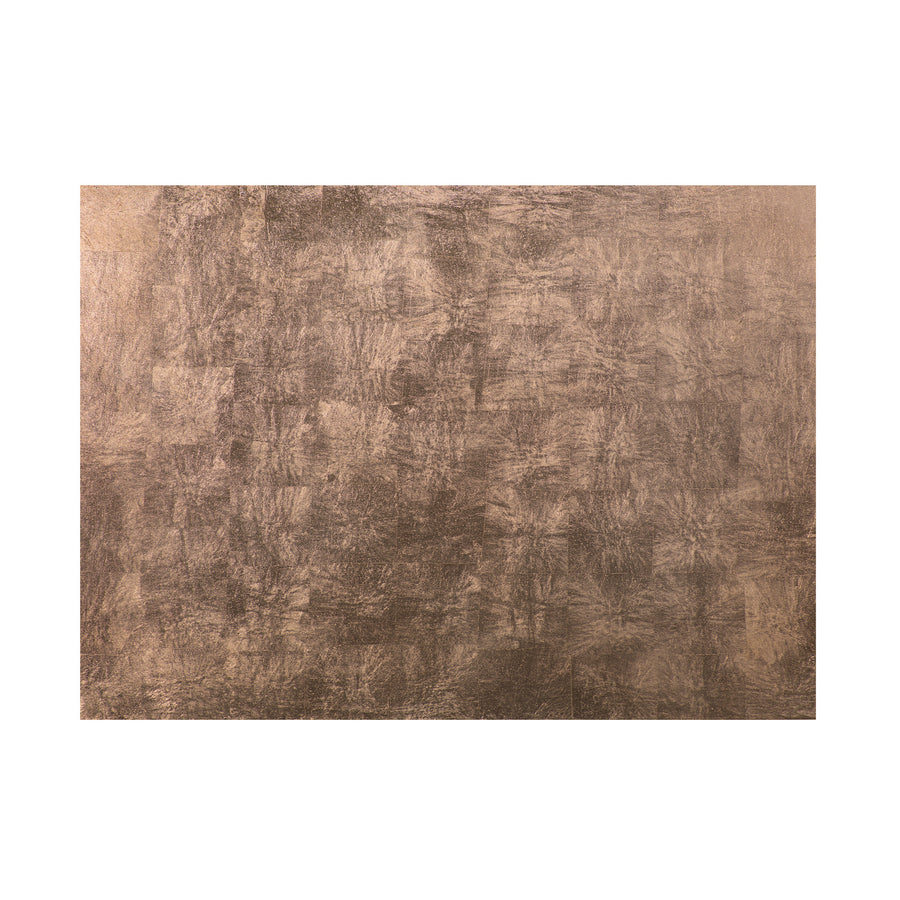 POSH TRADING COMPANY SERVING MAT / GRAND PLACEMAT SILVER LEAF IN TAUPE
