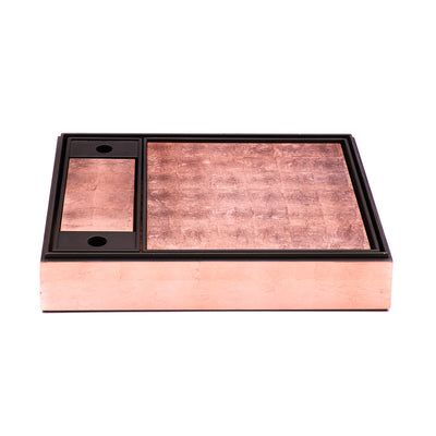 POSH TRADING COMPANY MATBOX SILVER LEAF IN ROSE GOLD