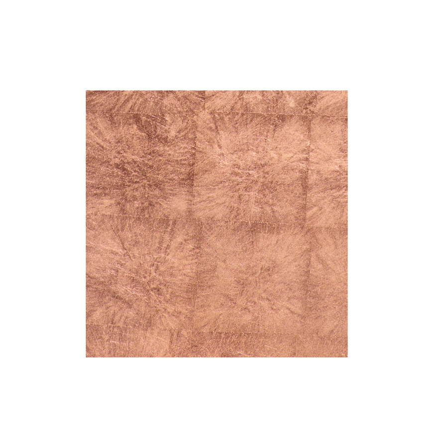 POSH TRADING COMPANY COASTER SILVER LEAF IN ROSE GOLD