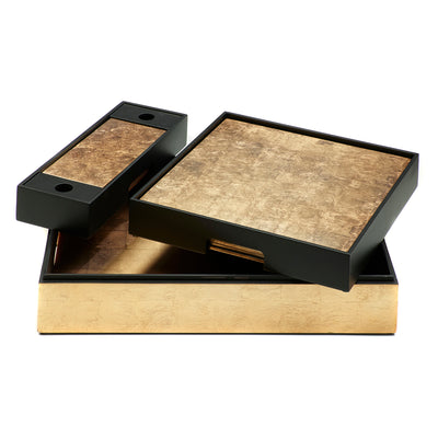 POSH TRADING COMPANY MATBOX SILVER LEAF IN GOLD