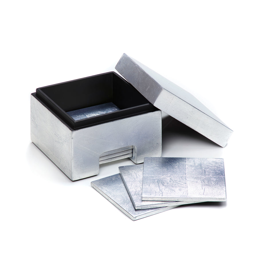 POSH TRADING COMPANY COASTBOX SILVER LEAF IN SILVER