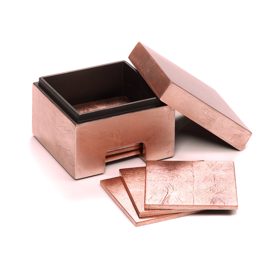 POSH TRADING COMPANY COASTBOX SILVER LEAF IN ROSE GOLD