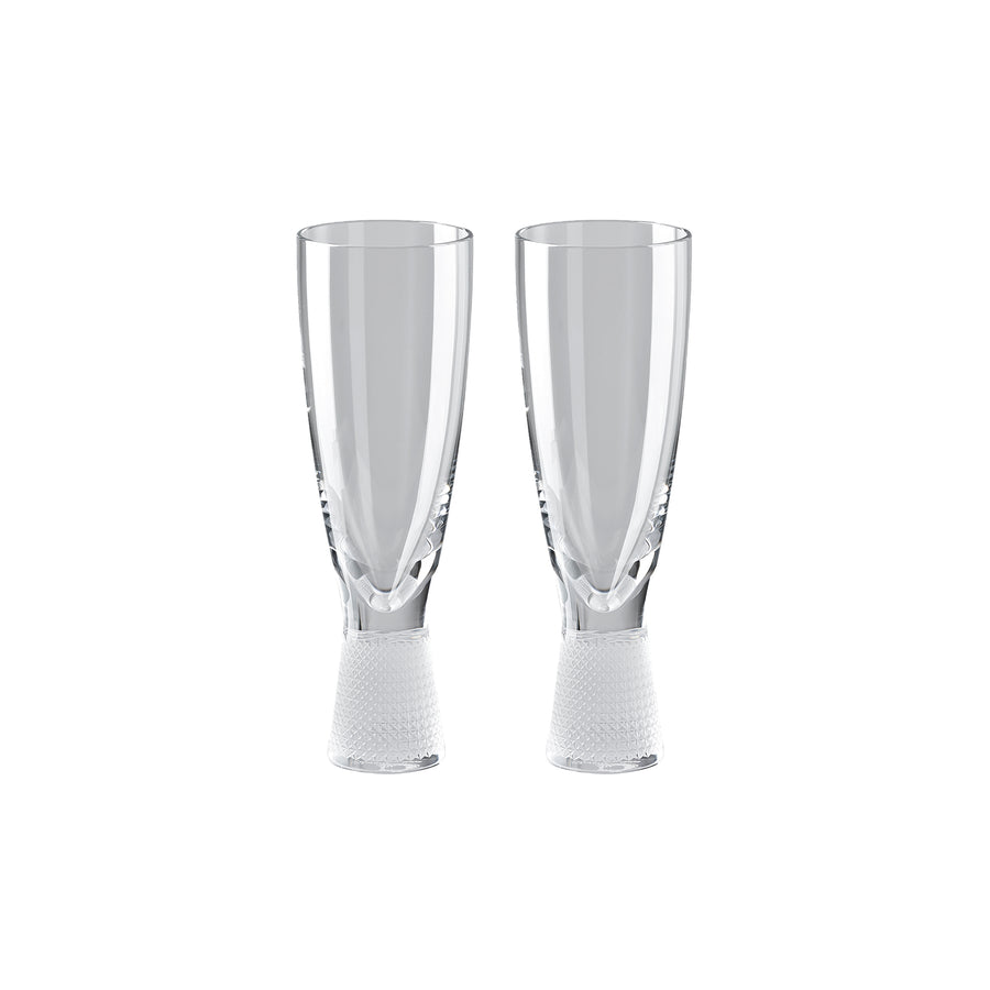 Rosenthal Vizner Schliff set of 2 champagne glasses