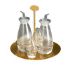 Mepra Cruet and Salt Cellar Set Due Ice Oro, Due Oro Nero ,Mepra | Zangheim Ltd.