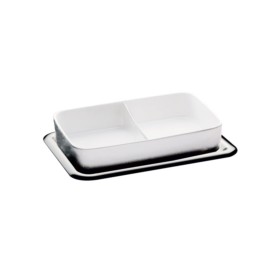 Mepra Rectangular Serving Tray 2 Compartment   Coccola ,Mepra | Zangheim Ltd.