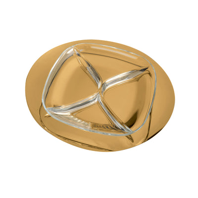 Mepra Hours'd'Oeuvre tray Due Ice Oro, Due Oro Nero ,Mepra | Zangheim Ltd.