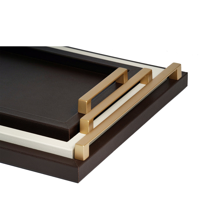 PINETTI RECTANGULAR JUPITER TRAY BROWN