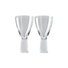 Rosenthal Vizner Schliff set of 2 red wine glasses
