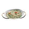 Mepra Fine China risotto Bowl with multifunction stand Due Ice Oro, Due Oro Nero ,Mepra | Zangheim Ltd.